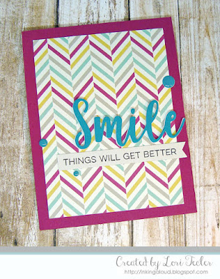 Smile card-designed by Lori Tecler/Inking Aloud-stamps and dies from My Favorite Things