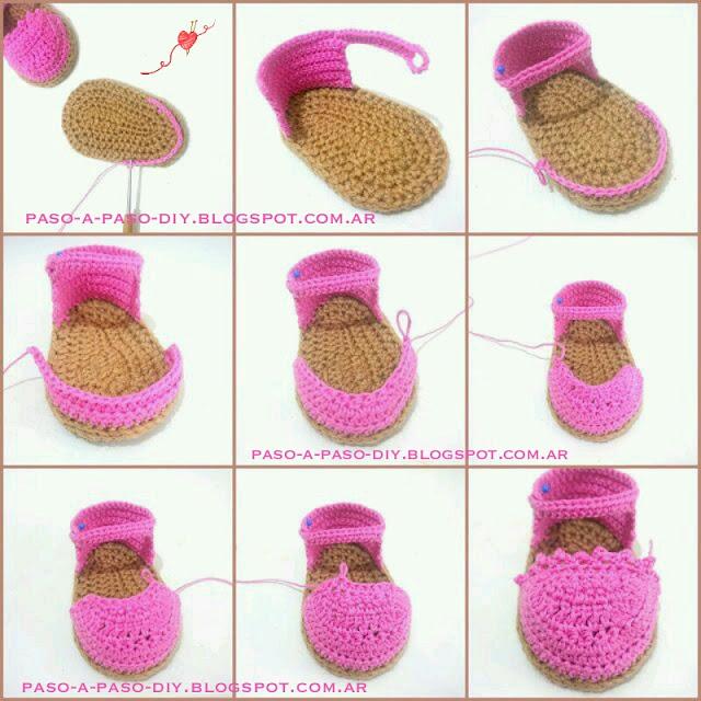Cómo hacer zapatos tejidos de bebé