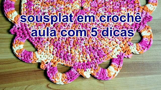Edinir Croche ensina sousplat em croche para canhota + 5 dicas
