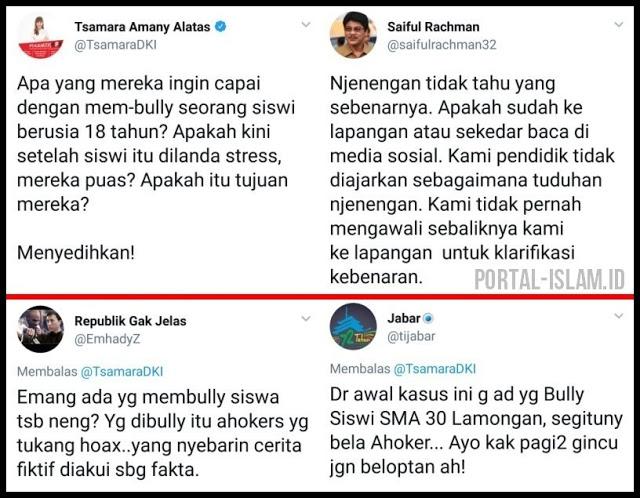 Tajam, Status Twitter Tsamara yang Ngasal Ditanggapi Kepala Dinas Pendidikan Jatim