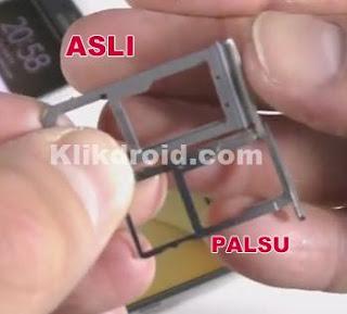 Slot memory Samsung S7 Asli dan Palsu