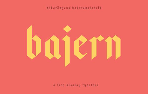 Bajern Free Font