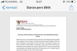 Info Resmi Cpns Resmi Dibuka 19 September 2018