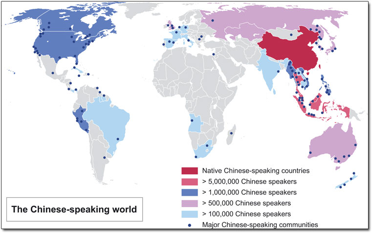 Most Widely Spoken Languages In The World Unique World - Native language world map