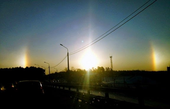 Sun dog effect-Three Sun in Sky