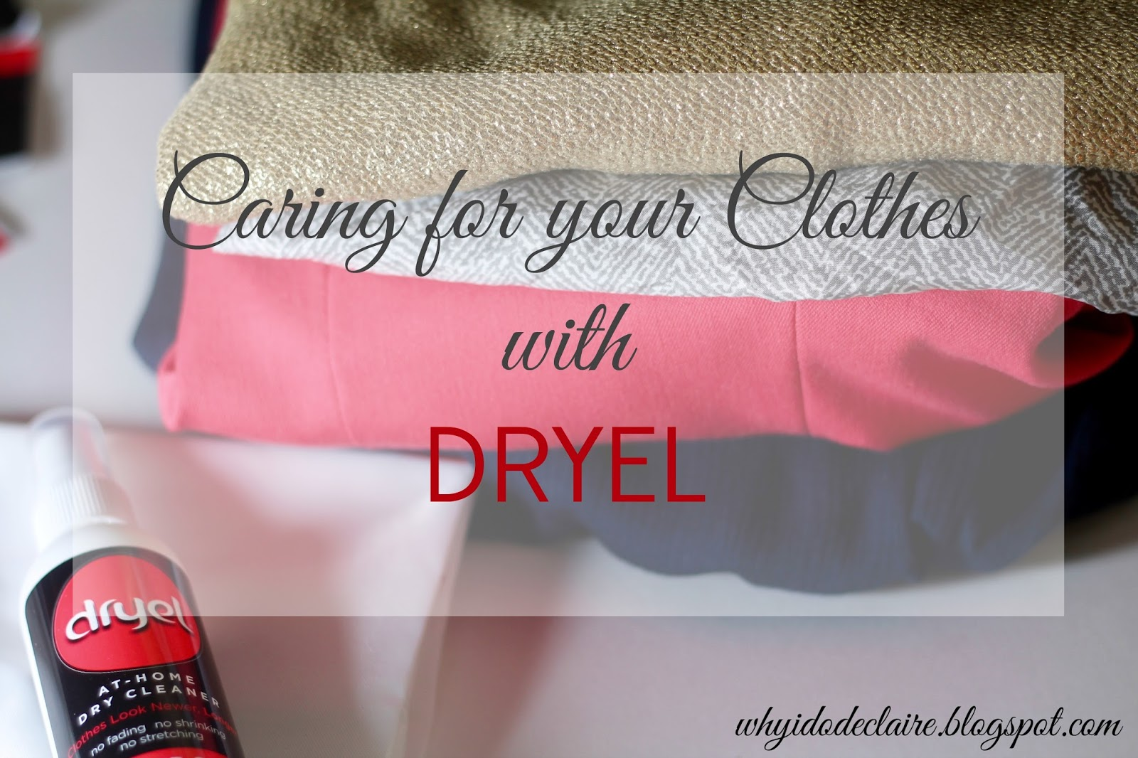 cleaning clothes with Dryel