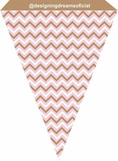 Banner o Estandarte para Imprimir Gratis  de  Osito Bebé con Corazón Rosa.