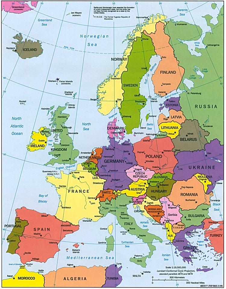 europas länder karta Karta över Europa Länder Bild | Karta över Sverige, Geografisk  europas länder karta