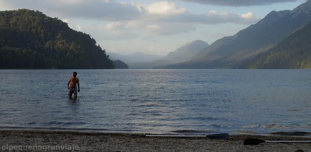 Lago Correntoso, atardecer, lago, paisaje, refrescandose