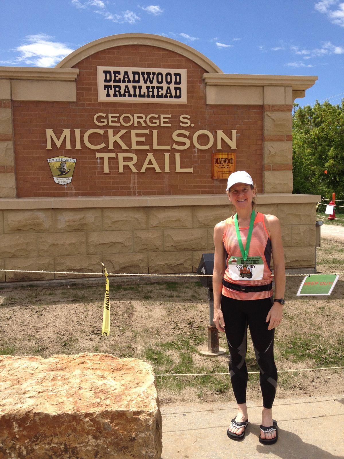 Mickelson Trail Elevation Map.50 State Marathon Journey 33 Deadwood Mickelson Trail Marathon