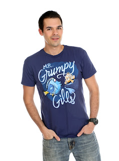 "Finding Nemo Disney Parks ""Mr. Grumpy Gills"" Men's Tee"