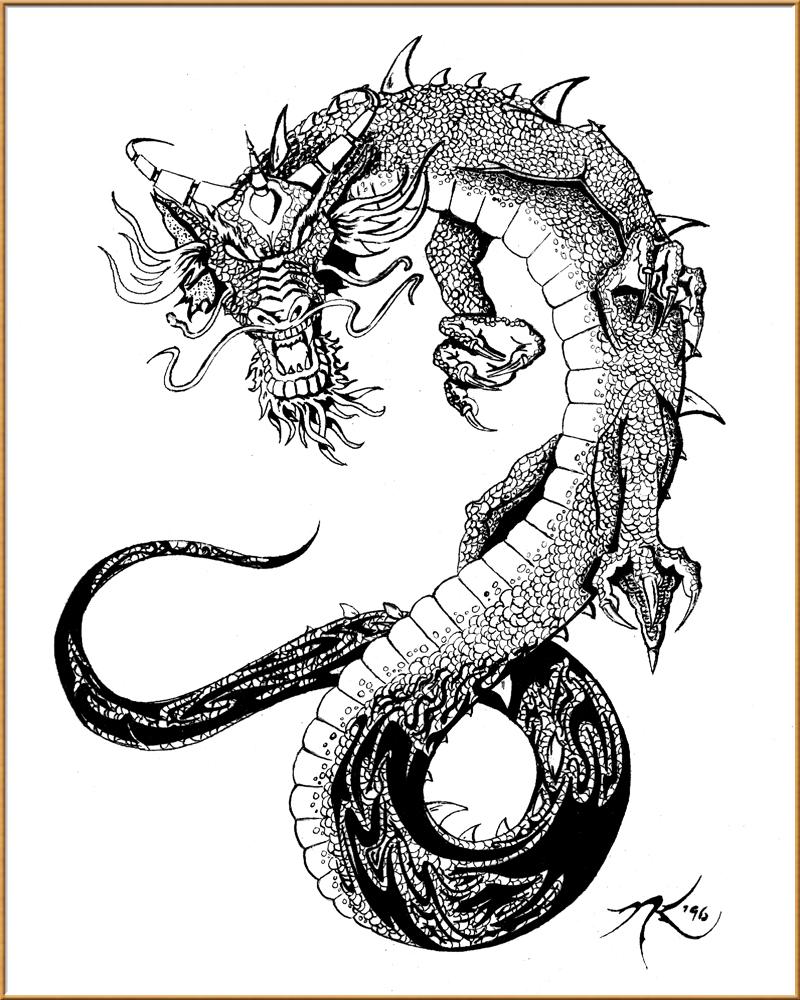 dragon tribal tattoo designs