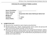Download RPP SD Kelas III Semester 2 Tema Berperilaku Baik dalam Kehidupan Sehari-hari Kurikulum 2013 Format PDF