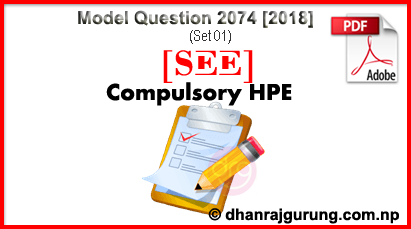 Health-Population-Environment-HPE-Model-Question-2074-2018-SET-01-SEE