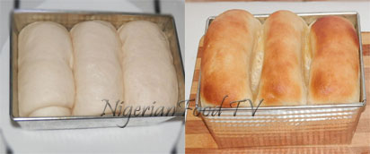 Nigerian bread : second proofing and baking agege bread