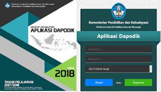 an terbaru dari aplikasi Dapodikdasmen versi  Download Aplikasi Dapodik Versi 2018.b Petch 1.0