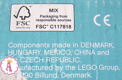 Страны выпуска деталей детского конструктора Lego замок Эльзы