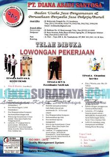 Lowongan Kerja Terbaru di PT. Diana Abadi Santosa Surabaya Mei 2019