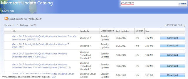 download patch MS17-010 sesuai sistem operasi