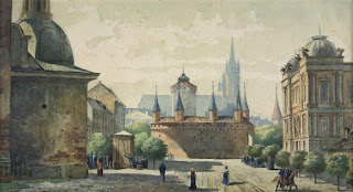 Барбакан у Кракові. Еразм Фабіянський, 1886 рік.