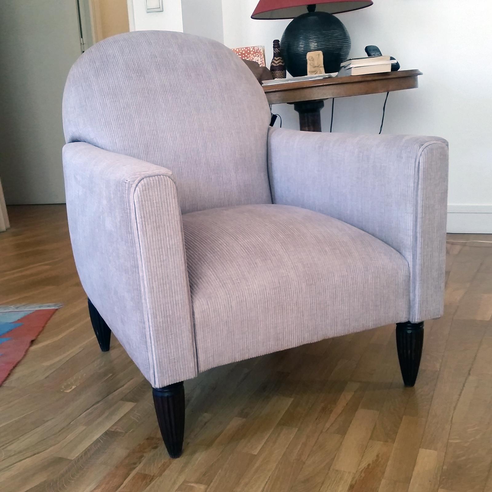 avant apr s fauteuil ann es 20 dossier inclinable atelier velvet artisan tapissier paris 10e. Black Bedroom Furniture Sets. Home Design Ideas