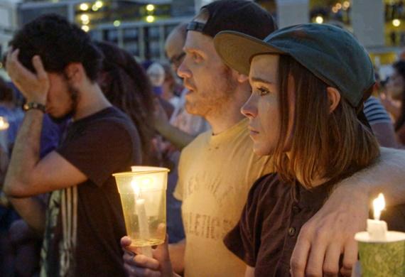 Ellen Page após o tiroteio na boate gay Pulse em Orlando