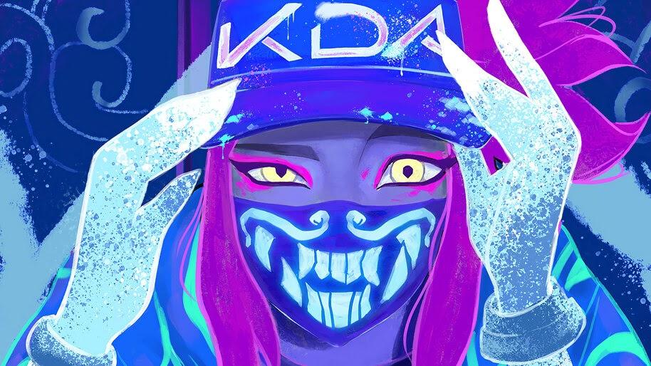 Akali Lol K Da Mask Neon 4k Wallpaper 3 195