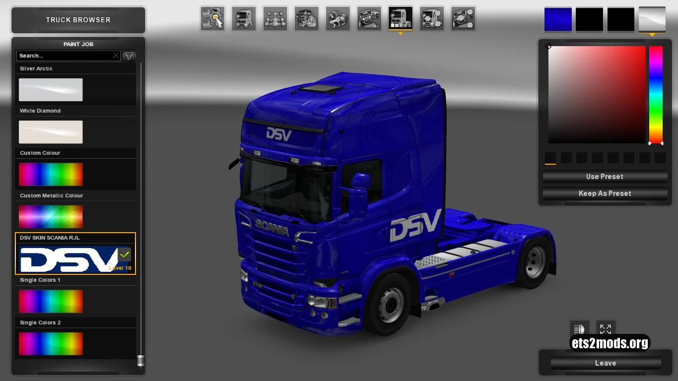 DSV Metallic Skin for Scania RJL