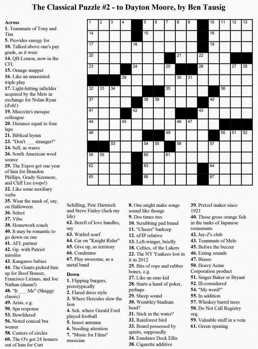 Coffee Thoughts: CLUES ( The Crossword Puzzle analogy)
