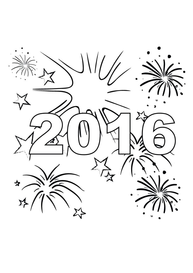 Novo Desenhos De Feliz Ano Novo Para Colorir Melhores Casas De