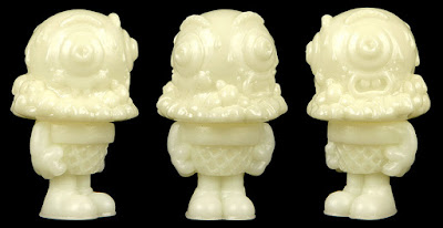 Glow in the Dark Unpainted Mister Melty Vinyl Figure by Buff Monster