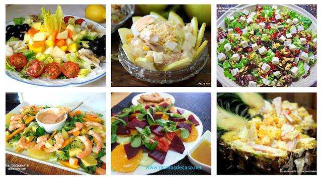 6 ensaladas con fruta