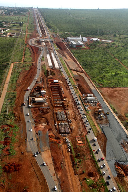Obras do VLP no Gama segue a todo vapor