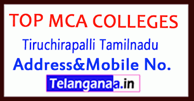 Top MCA olleges in Tiruchirapalli Tamilnadu