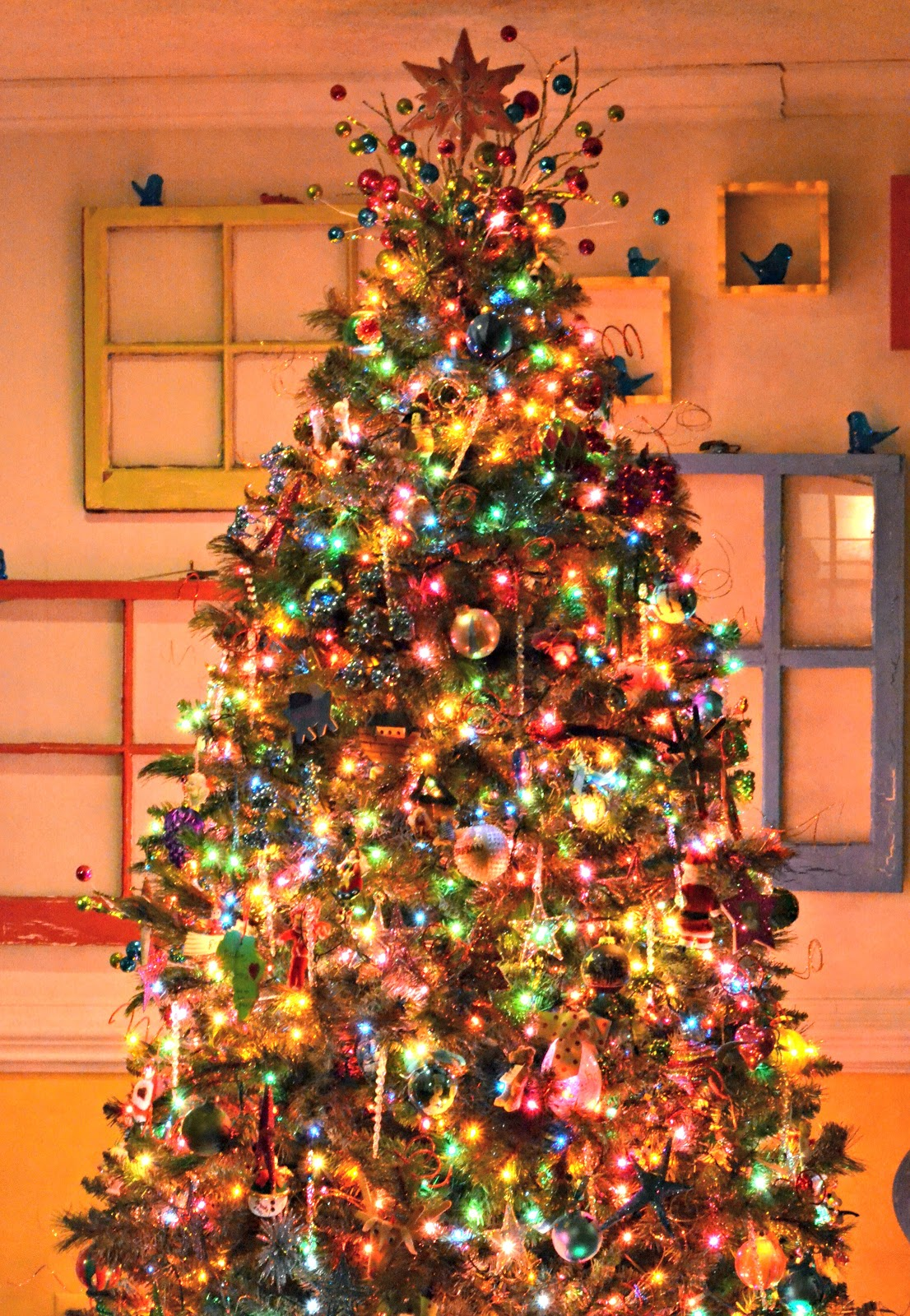 Decorating A Christmas Tree With