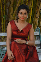 Tamil Actress Anisha Xavier Pos in Red Dress at Pichuva Kaththi Tamil Movie Audio Launch  0021.jpg