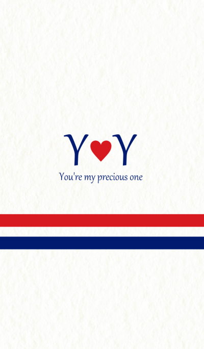 Y&Y Initial -Red & Blue-