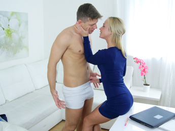 Sexy Agent Loves Stud's Big Cock – Female Agent