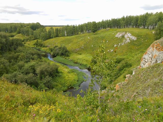 Река Багаряк в районе Зотинской пещеры