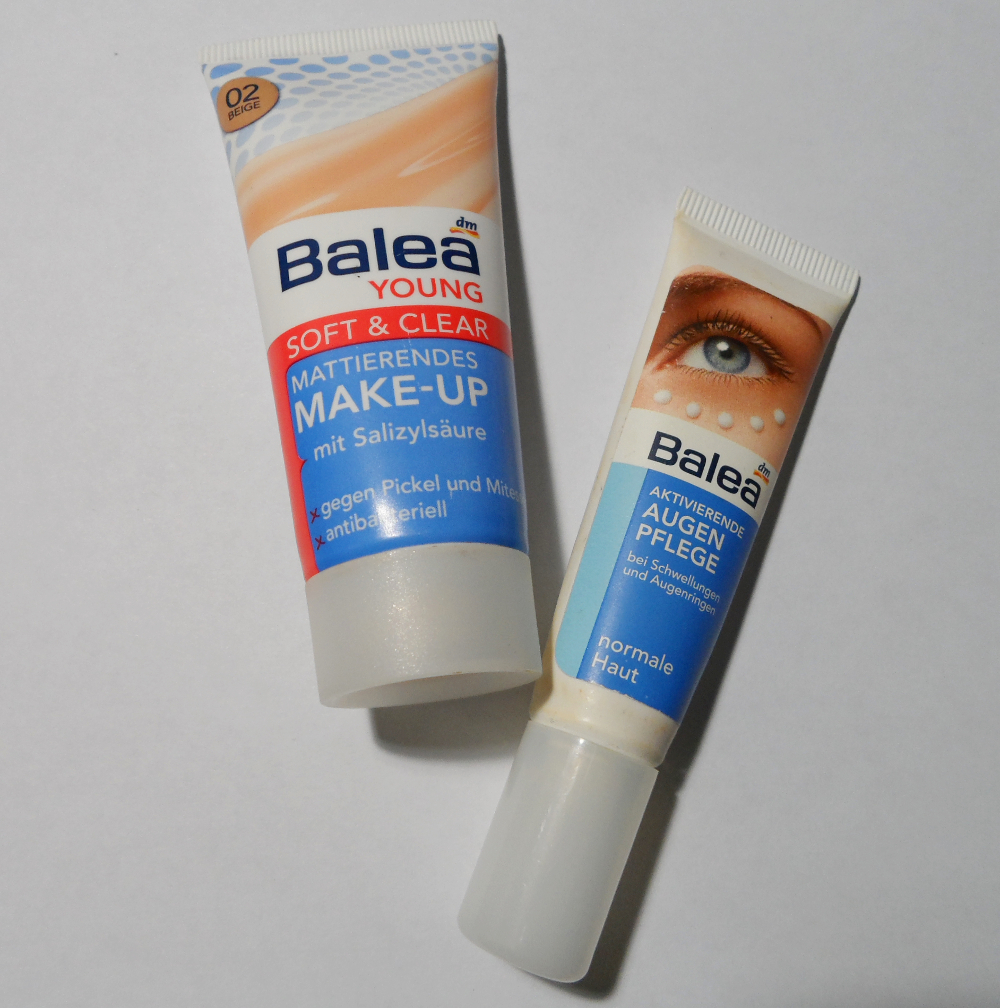 Balea Young Mattierendes Make up & Balea Aktivierende Augenpflege balea dm cosmetics blogger review