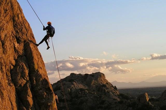 Rock climbing and rappelling in Munnar,Kerala