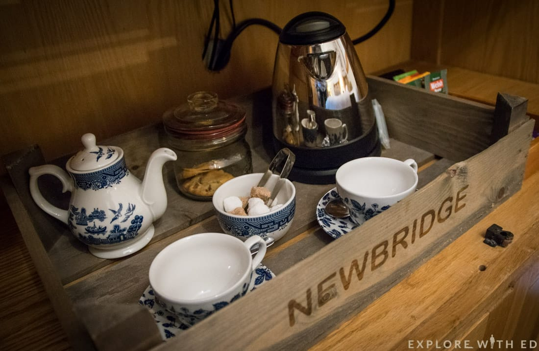 China tea set at Newbridge on Usk