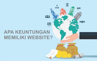 apa keuntungan memiliki website