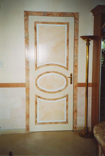 marbres, patines, décor, salon, imitation
