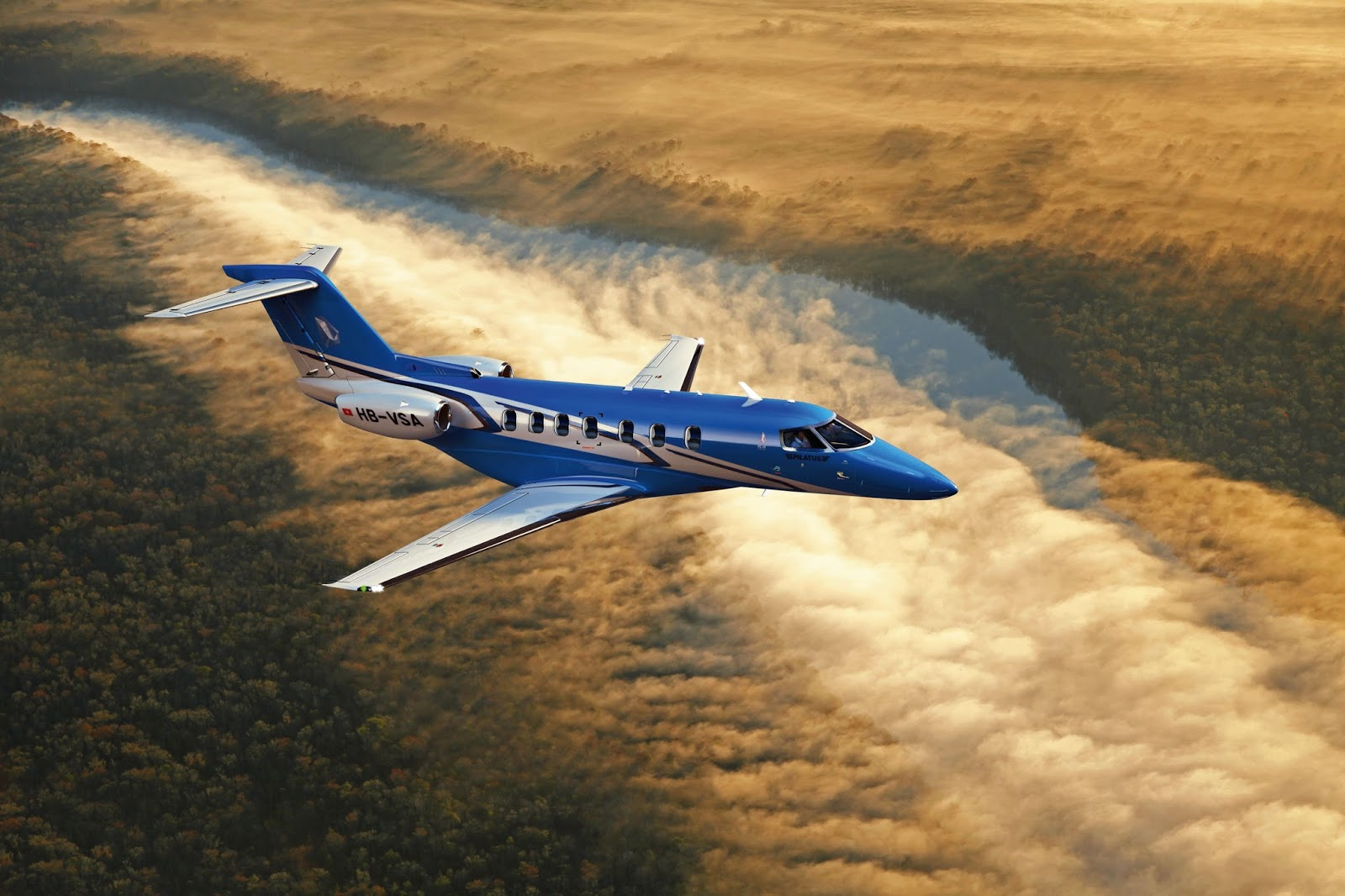Pilatus PC-24 Business Jet Over Mexico Aircraft Wallpaper 3880
