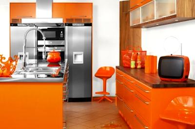 Kumpulan Desain Gambar Interior Rumah Warna Cat Orange Yang Menawan