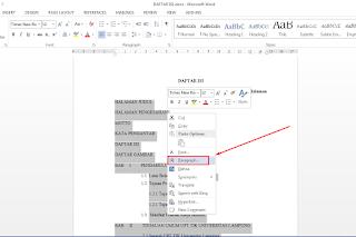 Cara Mudah Membuat Daftar Isi di Microsoft Word Menggunakan Tab