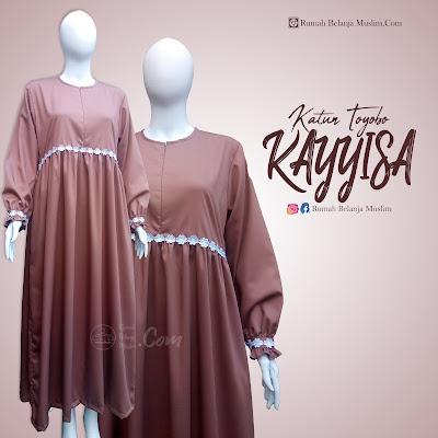 Gamis Akhwat Model Kayyisa Katun Toyobo