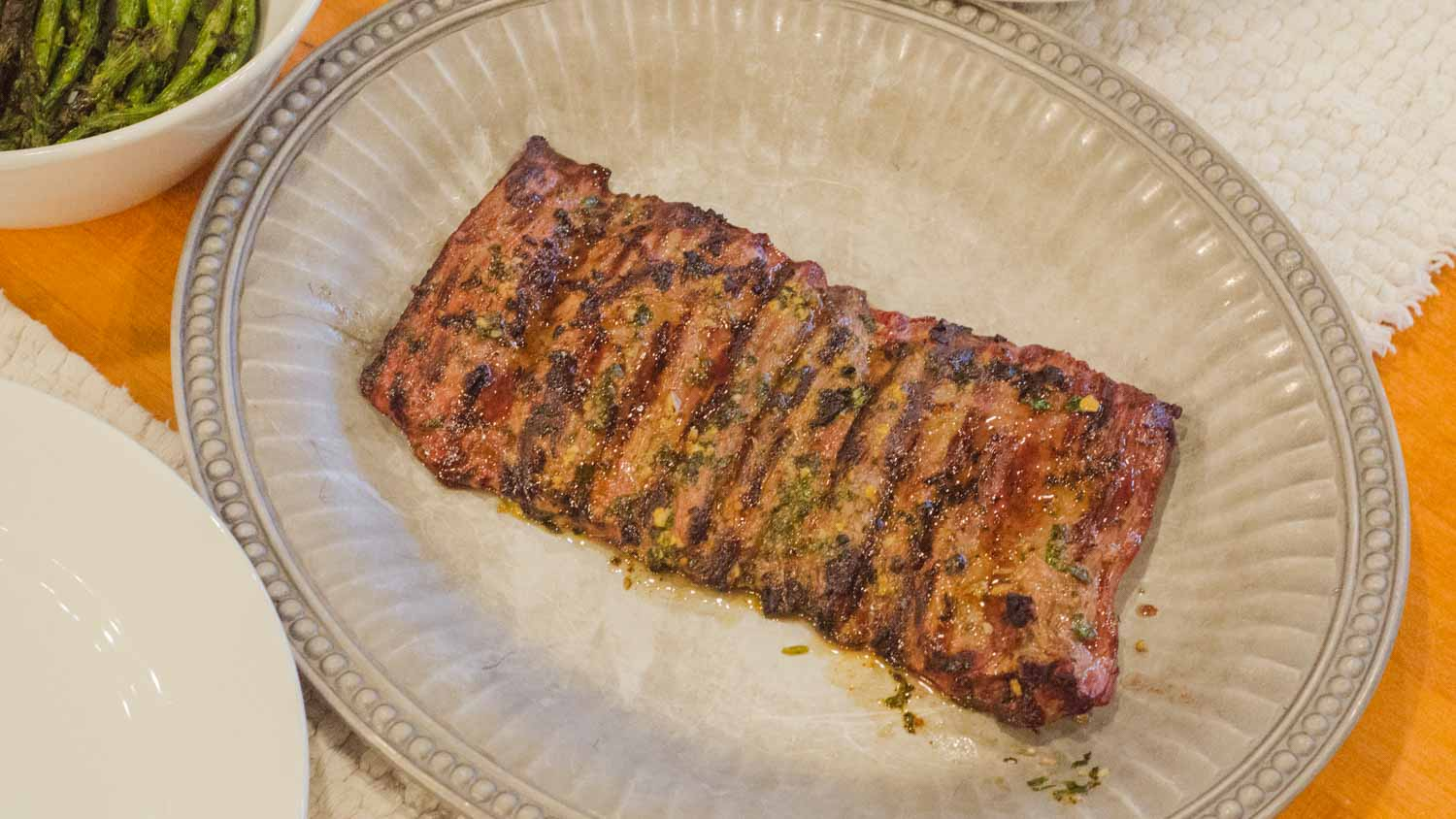 Grilled Skirt Steak with a Garlic Cilantro Rub - Simple Awesome ...