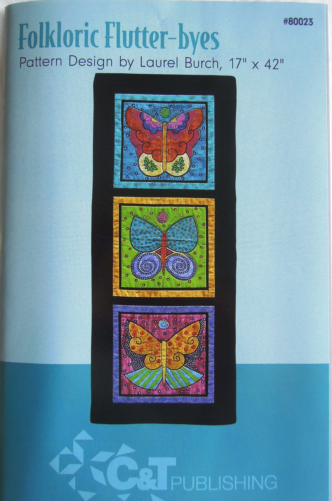 only $2.99: Folkloric Flutterbyes pattern by Laurel Burch (click!)